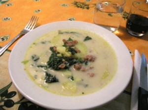 Italian potato kale soup russell veggies for Olive garden potato sausage kale soup recipe
