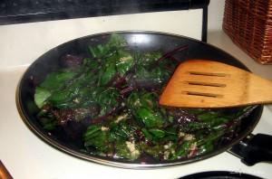 sauteed beet tops