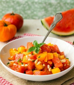 Tomato - Watermelon Salad (2)