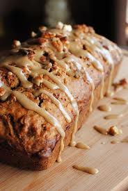 apple bread with carmel glaze