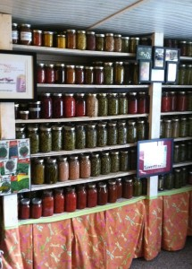 a glimpse into the canning room/pantry