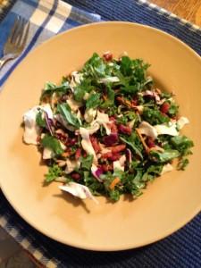 crunchy cabbage & kale salad