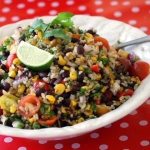 Zesty lime rice salad