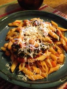 Swiss Chard, beans & pasta